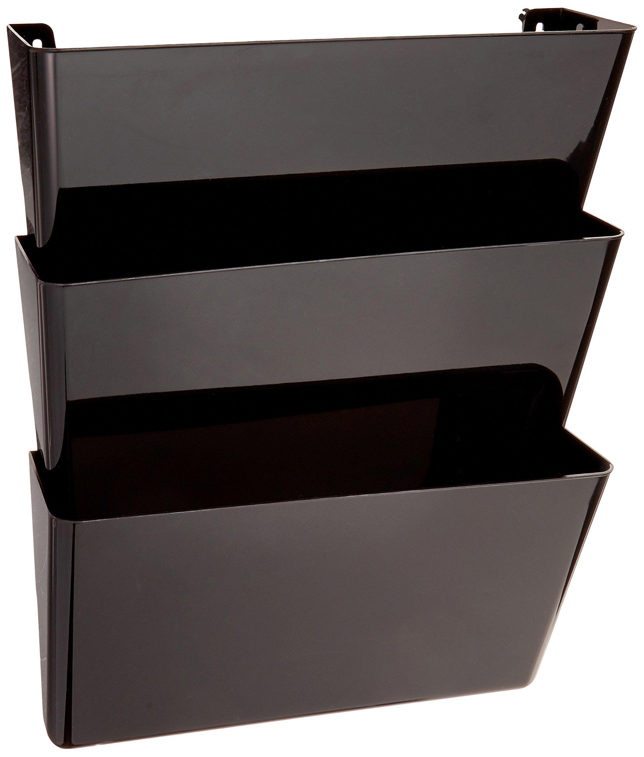 wall mount 3 trays hanging file sorter organizer folder holder rack storage new ebay. Black Bedroom Furniture Sets. Home Design Ideas