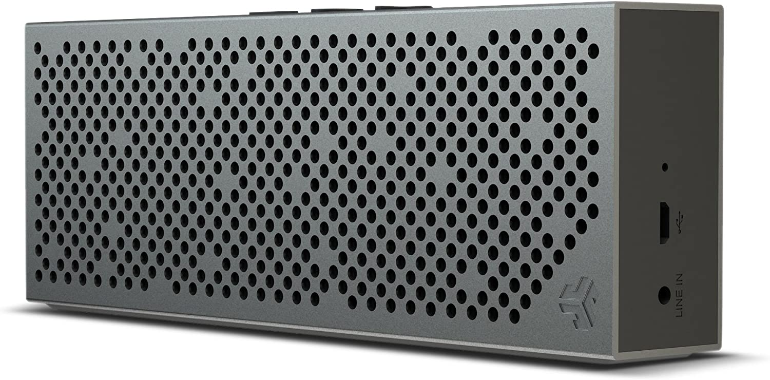 JLab Audio Crasher Slim- METAIL Build Rugged Portable Splashproof Bluetooth  Speaker with 9 Hour Battery - Black