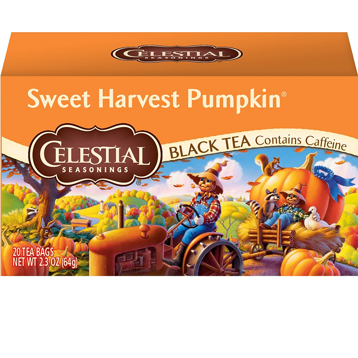 Celestial Seasonings Black Tea, Sweet Harvest Pumpkin, 20 Count 52267