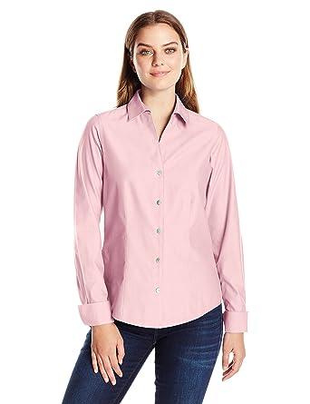 f265712939f414 Foxcroft Women's Long Sleeve Lauren Essential Non Iron Shirt at Amazon  Women's Clothing store: