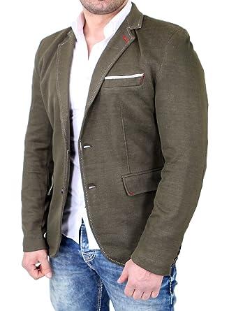 6d4dfb1b25009d Reslad Herren Sakko Casual Style Stoff-Look Blazer RS-8400 Khaki 2XL ...