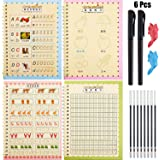 Number and Shapes Workbook for Kids Pens/&Drawing WYBF Magic Writing Paste Childrens Kindergarten Grooves Post Before School Handwriting Alphabet