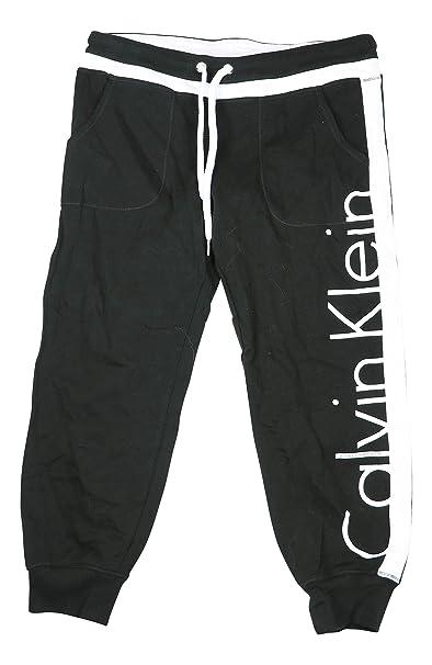 designer fashion d4e0c f48fd Calvin Klein Donna Pantaloni della Tuta - Nero - S: Amazon ...