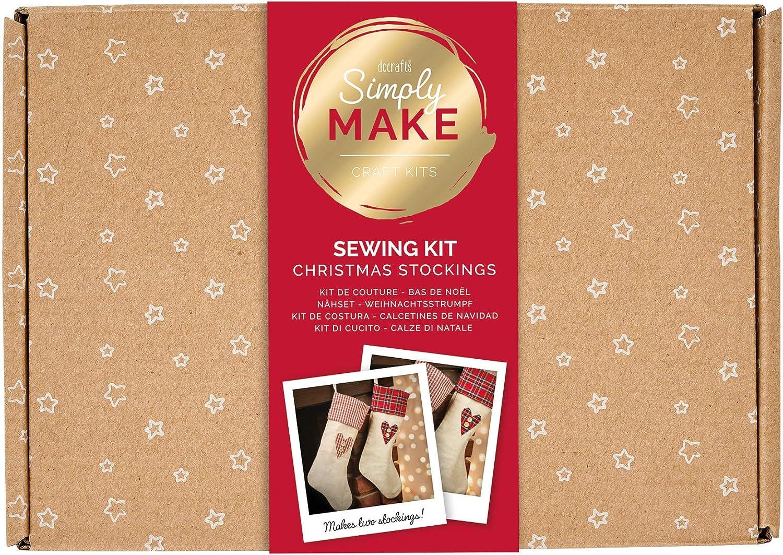 multicolor Kit de calcet/ín de Navidad talla /única docrafts