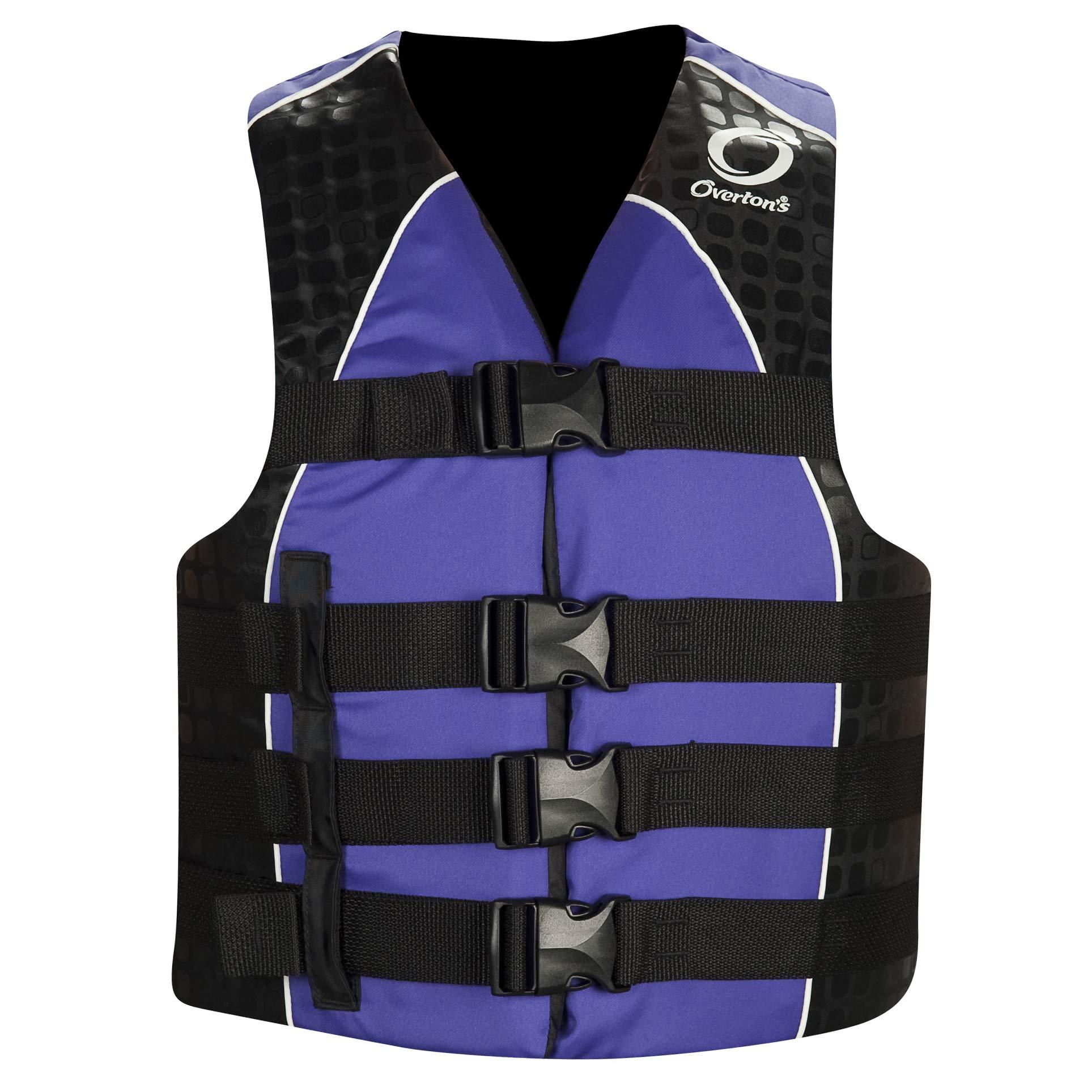 Overton's Women's Nylon 4-Buckle Life Vest Purple (S/M) by Overton's