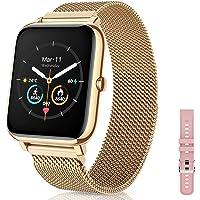 CanMixs Smartwatch, fitnessarmband, tracker, 1,4 vol, touchscreen, fitnesshorloge, IP67 waterdicht, polshorloge…