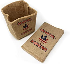 Organic Jute Grow Pot - 2.5 Gallon Fabric Grow Bags, Eco-Friendly Planters for Your Garden! Choose from 6 Unique Prints!