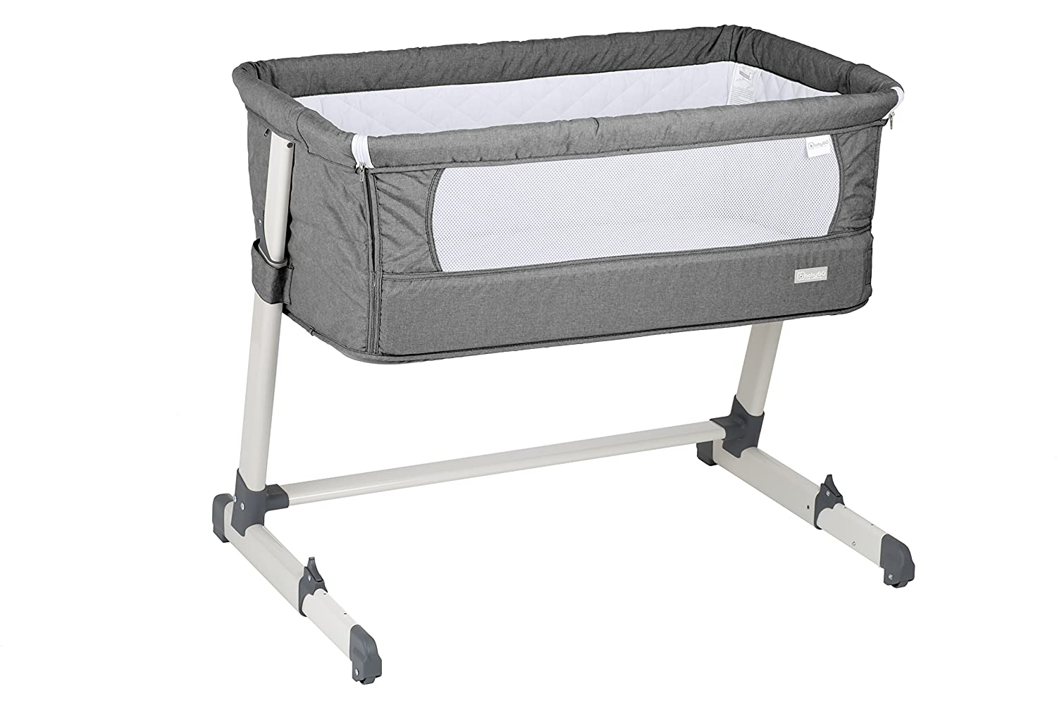 babygo 4601 Lettino-Culla Together Lettino incl Materasso e Cuscino, Grigio BabyGo Baby Products GmbH