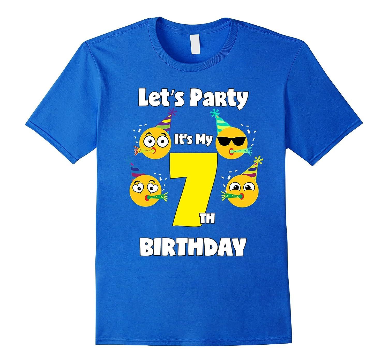 Emoji Birthday Shirt 7 Seven Year Old Girl Boy Toddler Cute TH