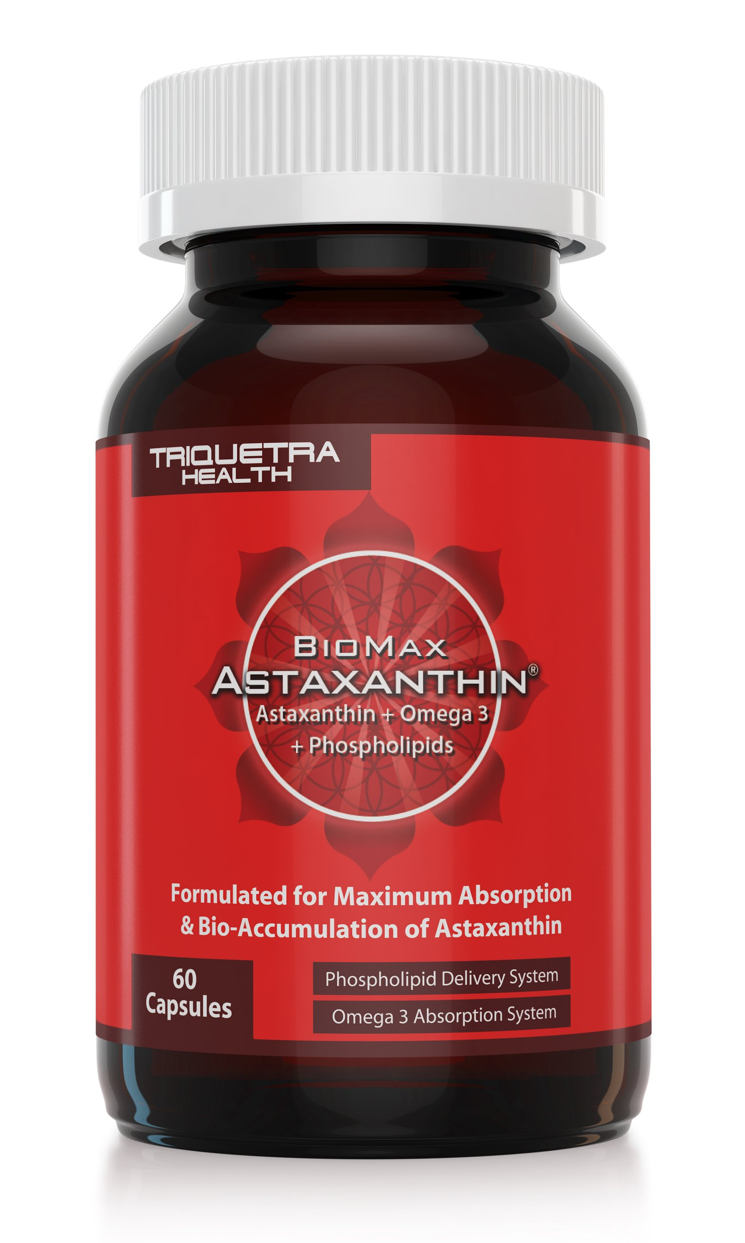 BioMax Astaxanthin: Scientifically Shown to be 370% More Effective Than Standard Astaxanthin - Combines Natural Astaxanthin Plus Omega 3 ALA & Phospholipids to Maximize Absorption & Bio-Accumulation 60 caps