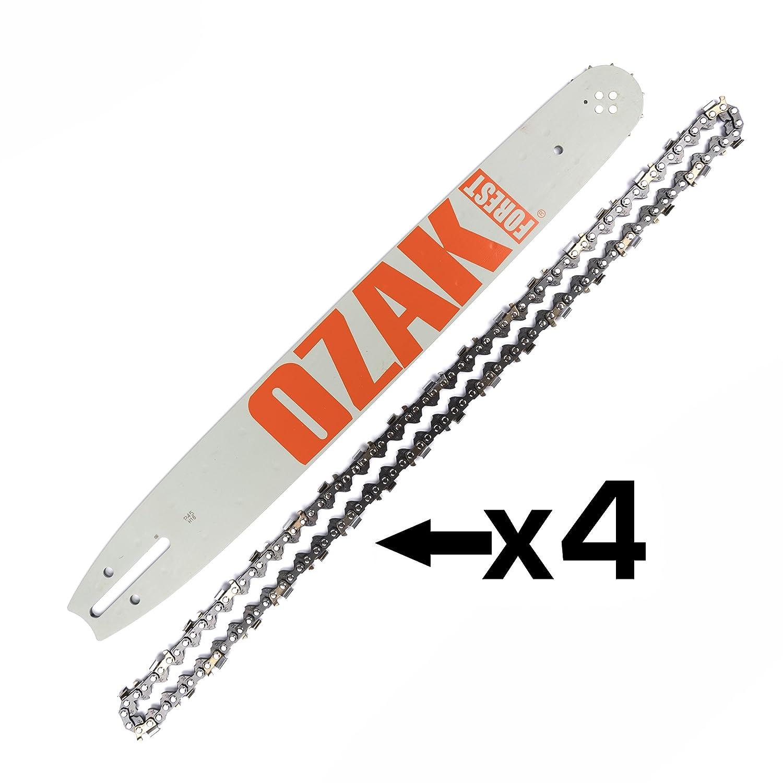 Combo guida + 4 Catene 45 CM non 325 calibro 1,5 mm 72 maglie = 188pxbk041 + 21 – 72