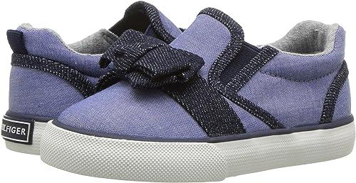 7d3d070c8 Amazon.com  Tommy Hilfiger Kids Womens Denise Slider Bow (Toddler Little Kid)   Shoes
