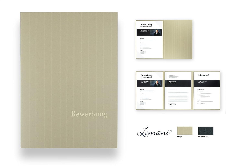 5 Stück 3-teilige Bewerbungsmappen Lemani PRESTIGE 'pearl white' mit 2  Klemmschienen - Premium-Qualität mit unverwechselbarer Haptik, feiner  Tweed-Struktur ...