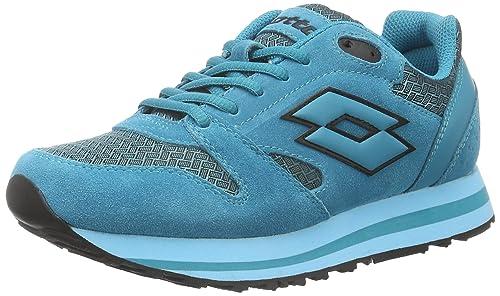 Lotto Sport S4222, Zapatillas Mujer, Azul (Grn Aga/Blu Skp), 38 EU