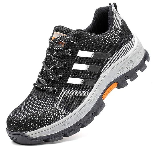 3324e4b7758 COOU Calzado de Seguridad para Hombre Transpirable Ligeras S3 Calzado de  Trabajo para Comodas  Amazon.es  Zapatos y complementos