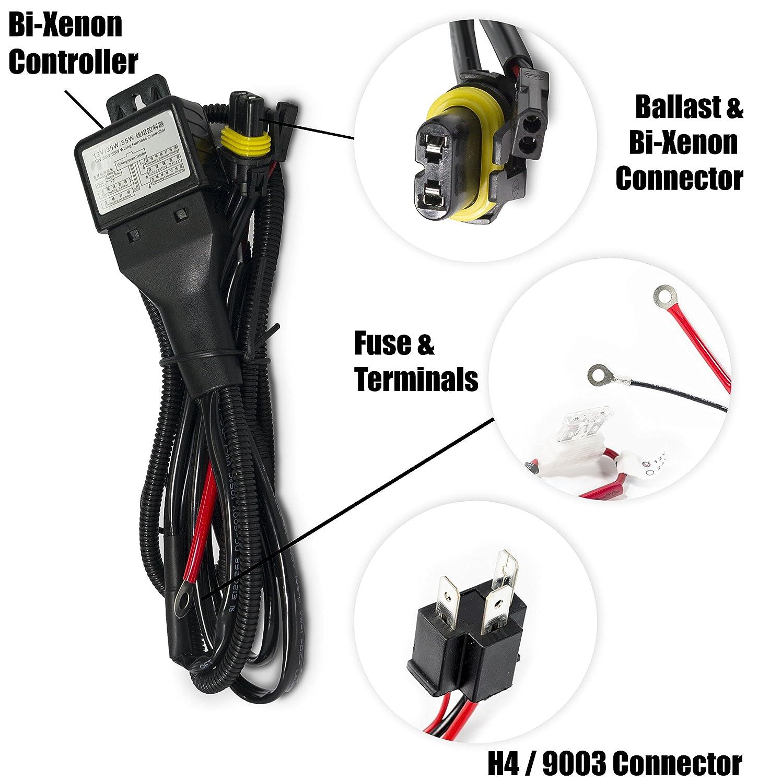 H4 Bi Xenon Hid Wiring Diagram Ford Probe | Schematic Diagram