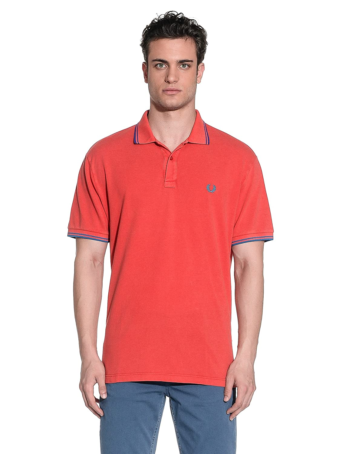 Fred Perry Polo Rojo S: Amazon.es: Ropa y accesorios