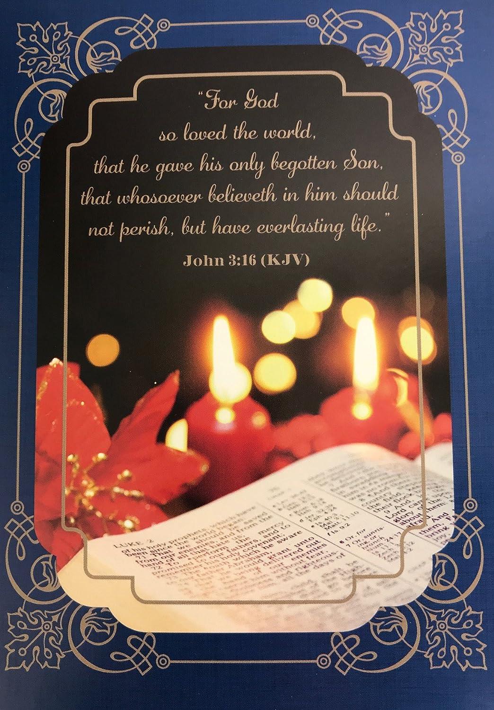 Amazon.com : Inspirational Religious Christmas Cards, John 3:16 ...