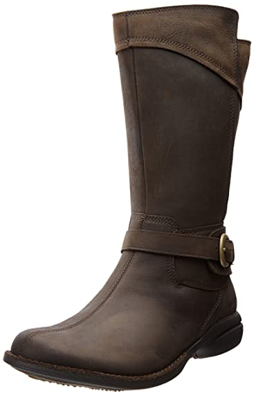Women's Merrell Captiva Buckle-Up Waterproof Casual Boots Espresso X53e1293
