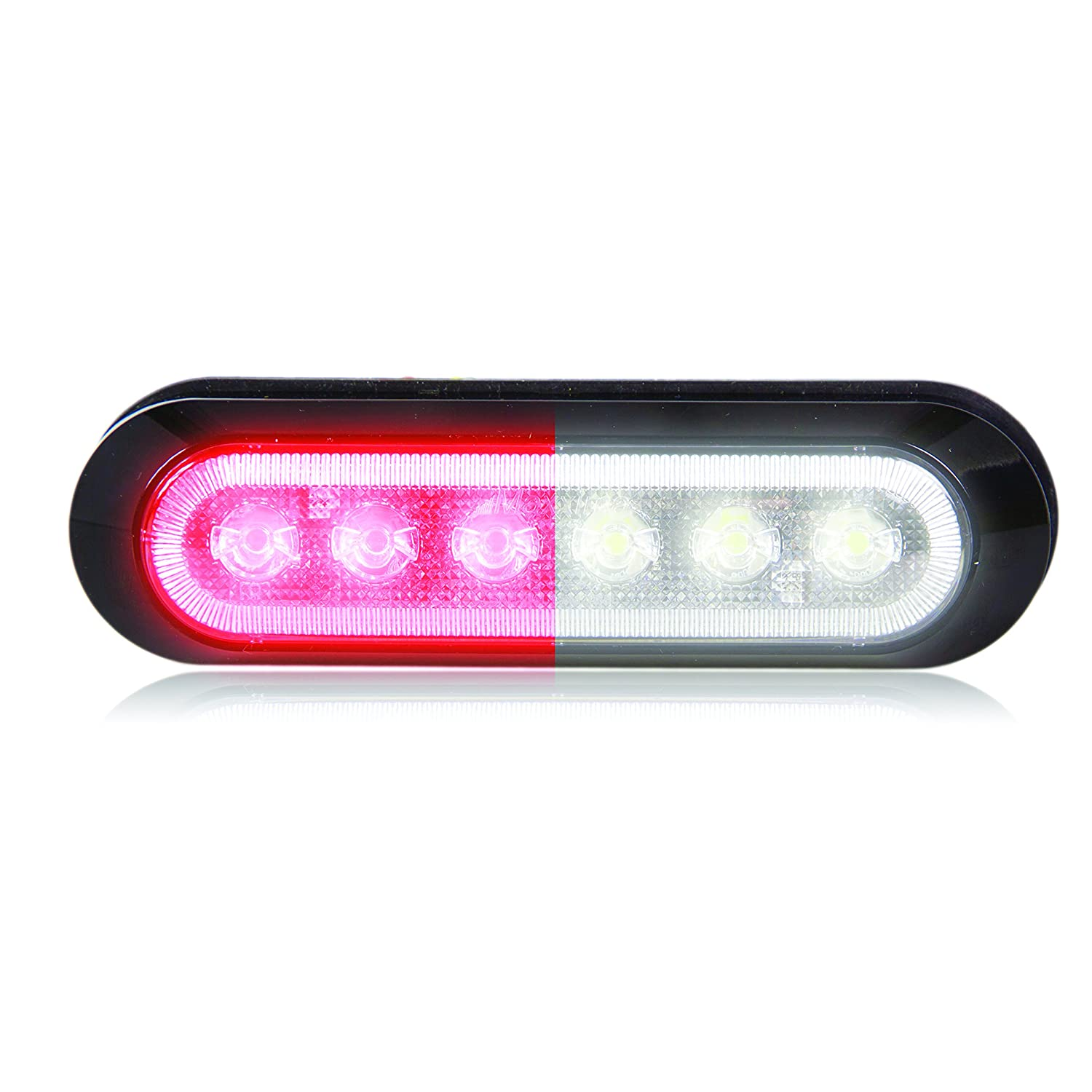 Maxxima M20386RCL 6 LED Red Clear Ultra Thin 0.9 Warning Strobe Light