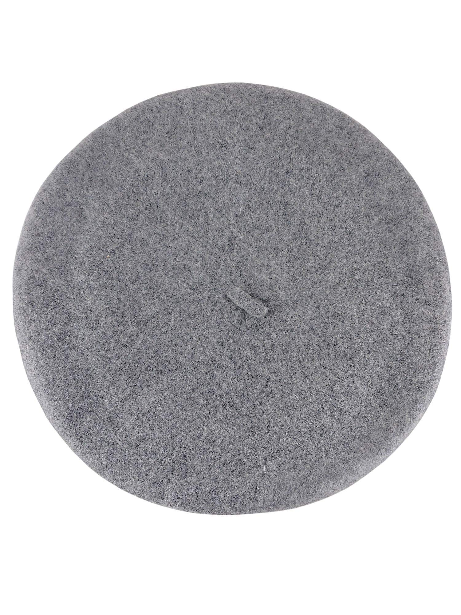 NYFASHION101 French Style Lightweight Casual Classic Solid Color Wool Beret, Ash Gray