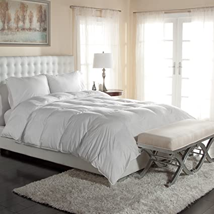Genial Luxury Silky Cotton Sateen Oversized White Down Comforters  Hypoallergenic    Great For The Master Bedroom