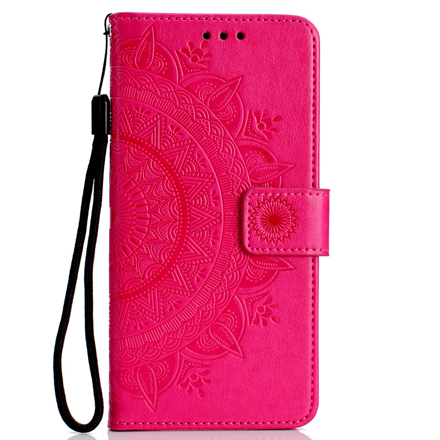 NEXCURIO iPhone XR Wallet Case with Card Holder Folding Kickstand Leather Case Flip Cover for Apple iPhone XR - NEHHA11310 Rose Gold