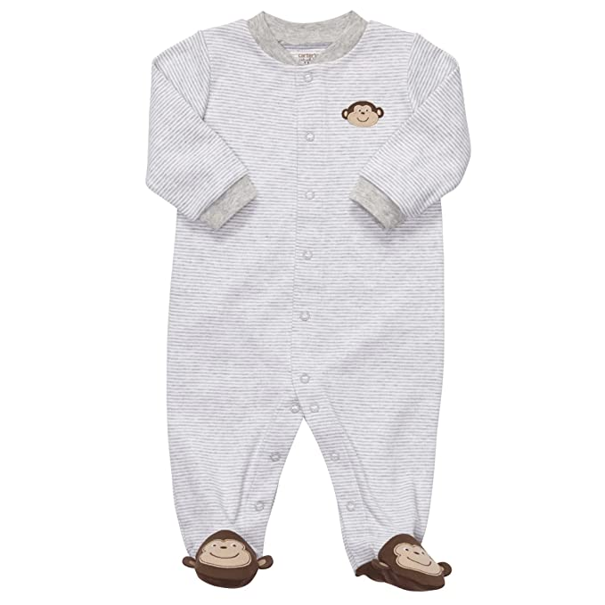 cd894c3cc Amazon.com: Carter's Baby-Boys Preemie Striped Monkey Sleep and Play:  Infant And Toddler Sleepers: Clothing