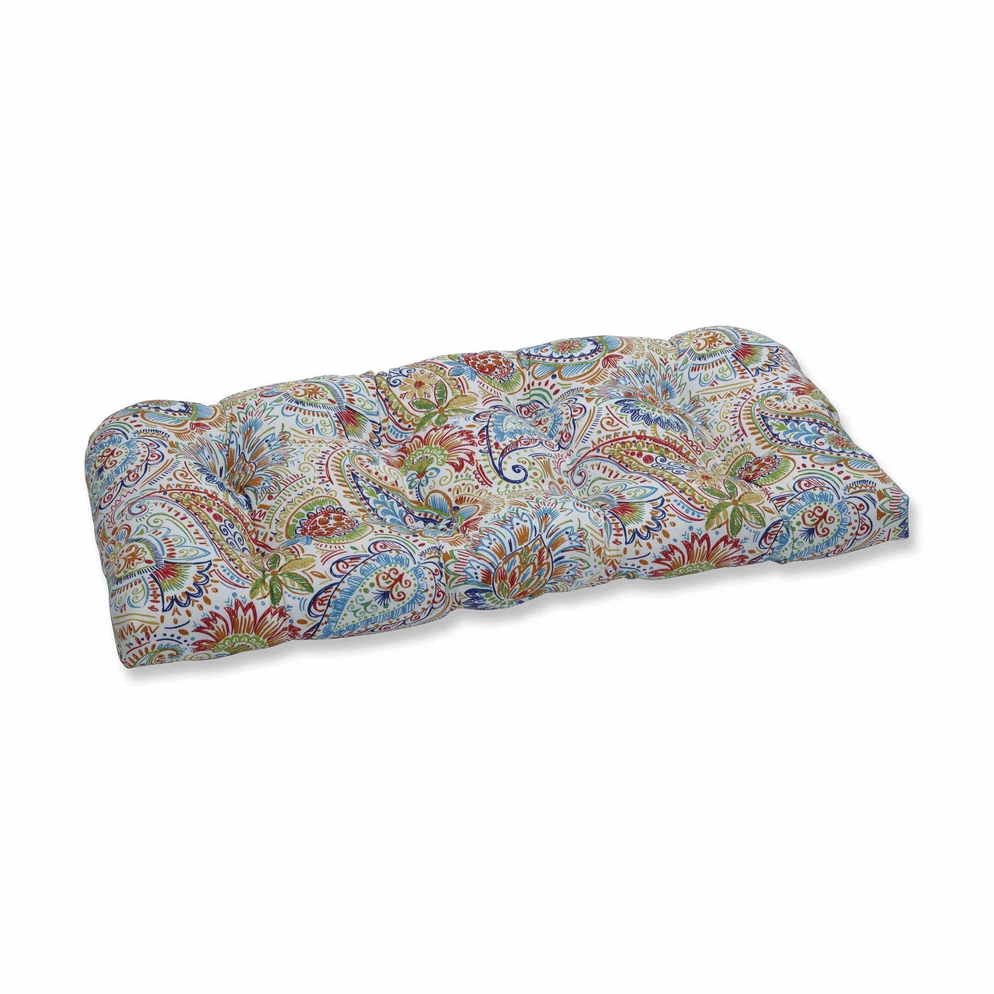 OKSLO Gilford festival wicker loveseat cushion