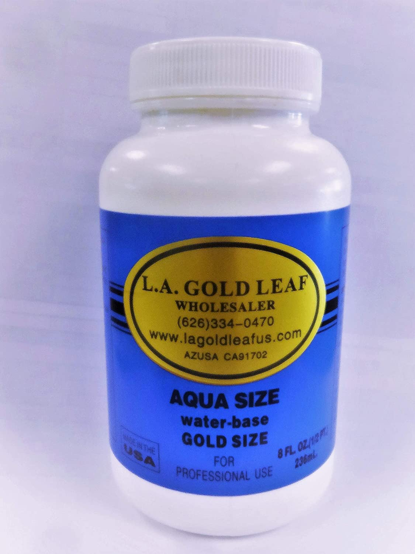 L.A Indoor Use Only Gold Leaf Aqua Size 8 oz.