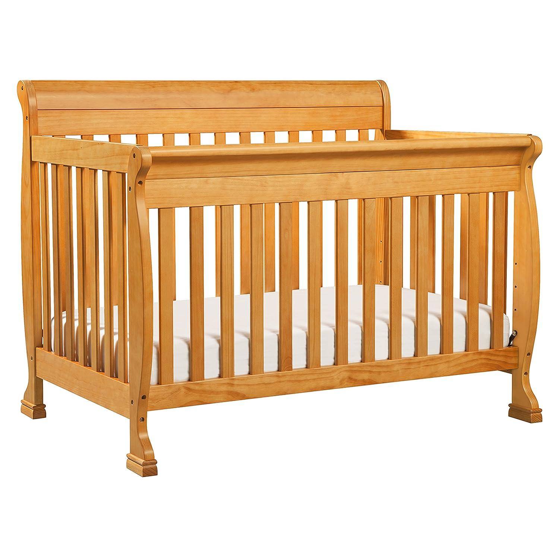 Oak Wood Cribs ~ Davinci kalani convertible crib in w toddler bed rail