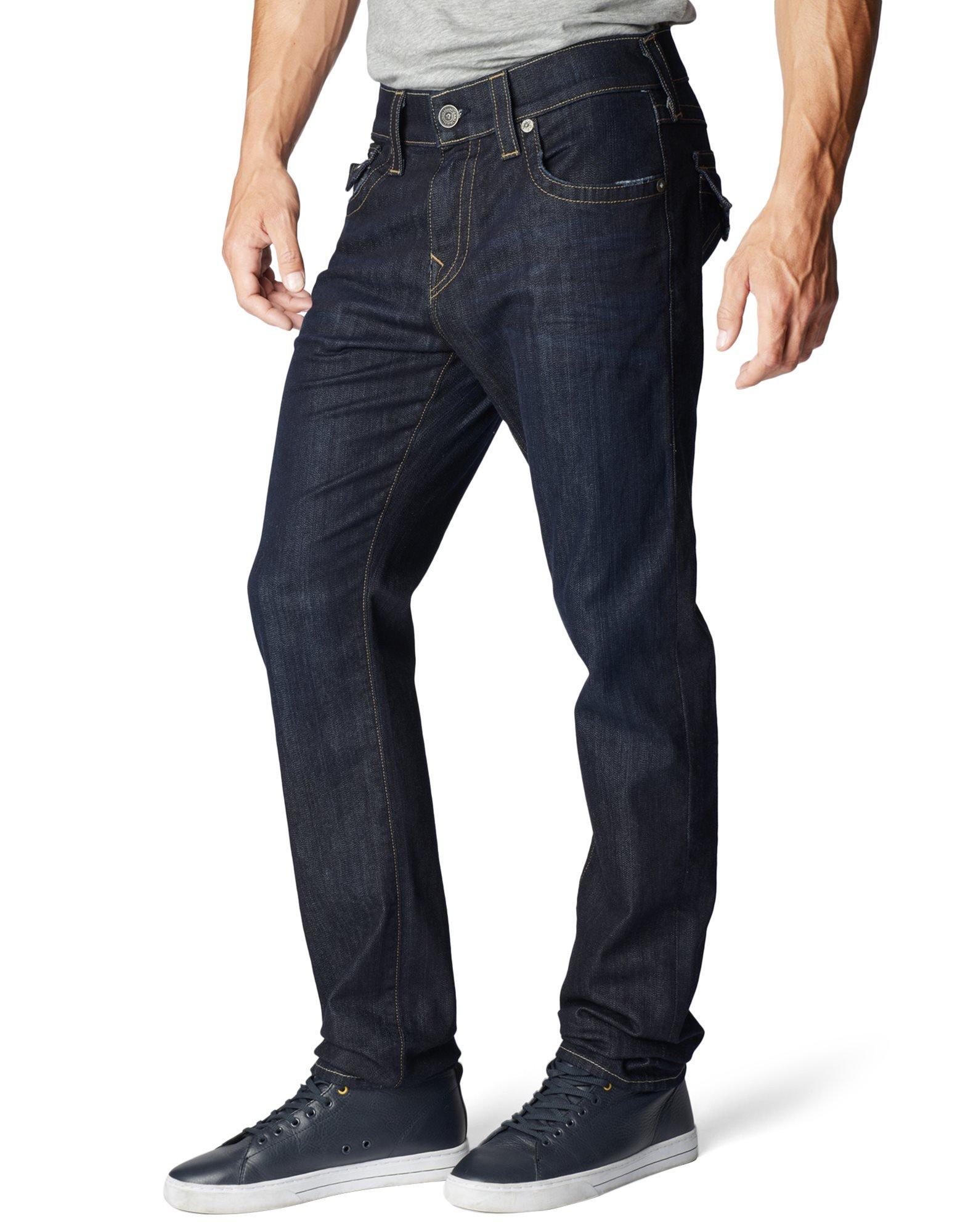 True Religion Men's Geno W Flap Slim Jean, Wanted Man, 40