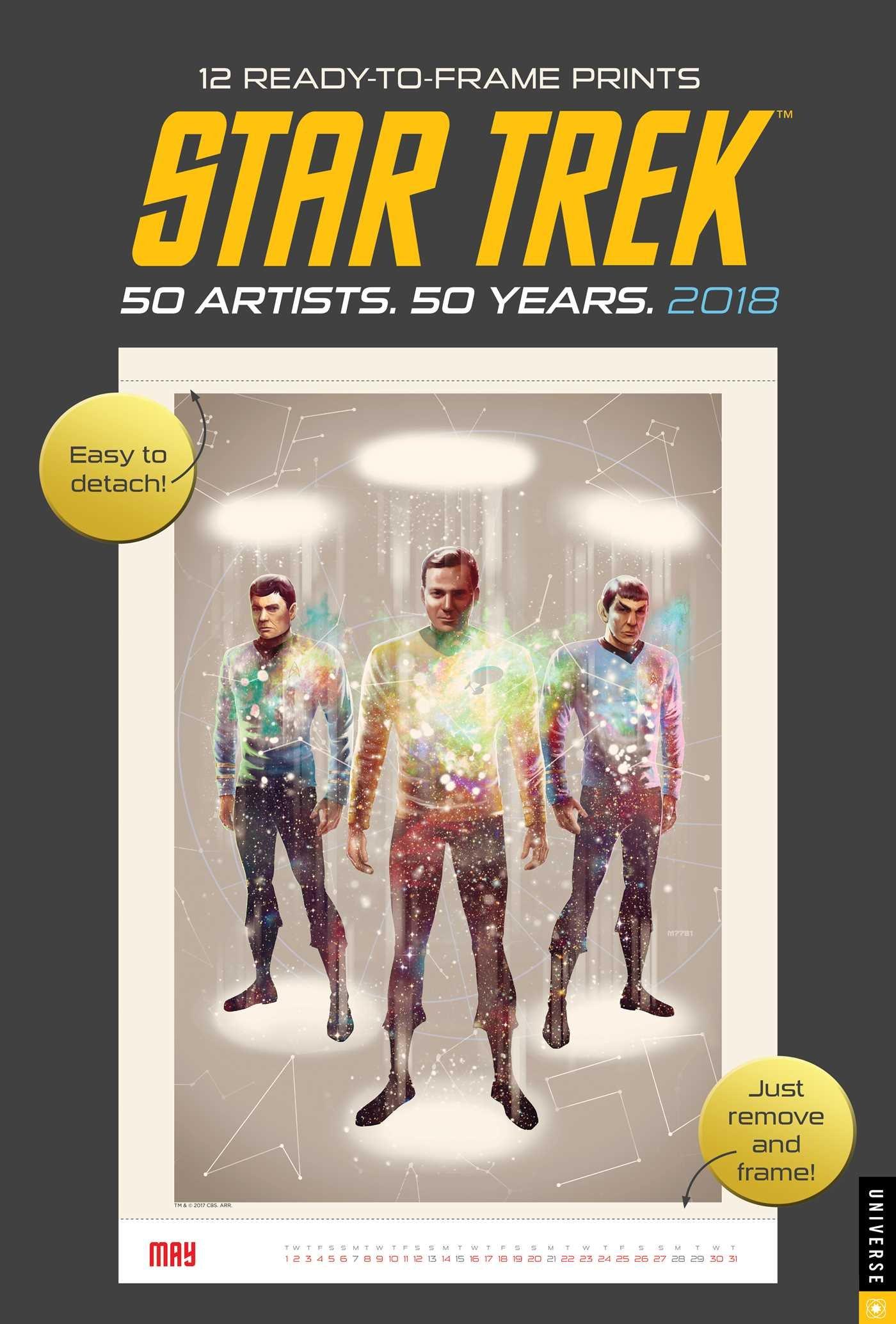 Star Trek 2018 Poster Calendar: 50 Artists. 50 Years. by Universe Publishing