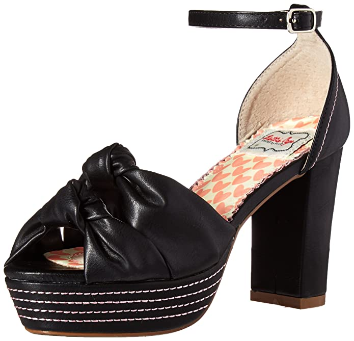 Bettie Page Womens Bp385-Jessy Platform Dress Sandal  AT vintagedancer.com