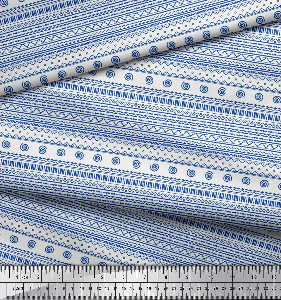 Soimoi Azul popelina de algodon Tela africano tribal tela ...
