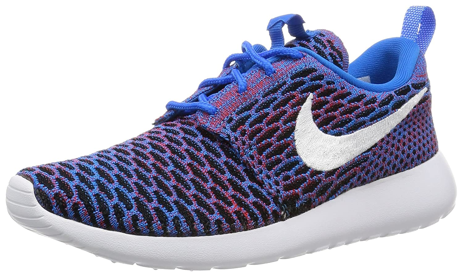 NIKE Womens Roshe One Flyknit Flyknit Colorblock Running Shoes B01HB56O56 7 B(M) US|Photo Blue/White-Red