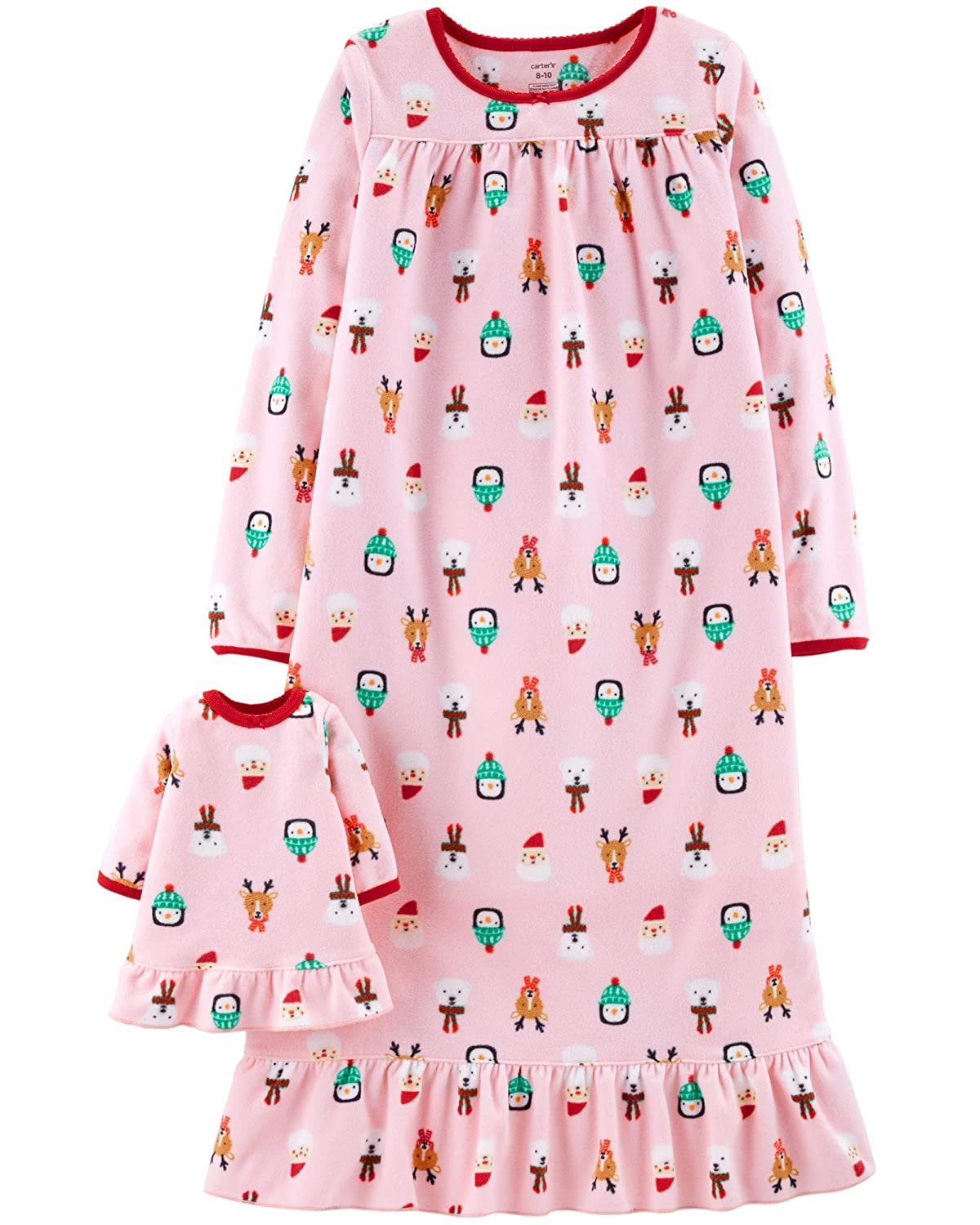 Carter's Girls Microfleece Nightgown and Doll Gown