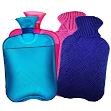 AZMED Hot Water Bottle with Cover