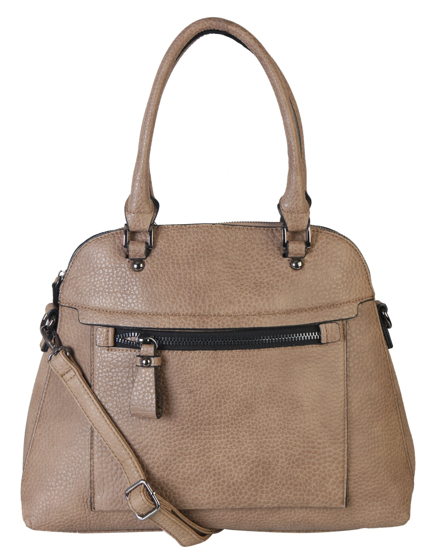 Diophy Large Faux PU Leather Tote Woman Business Shoulder Handbag With Removable Strap ZD-2498 Khaki by Diophy