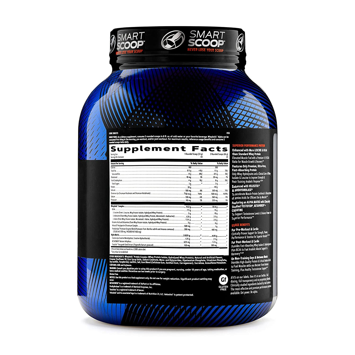 GNC AMP Wheybolic Alpha Whey Protein Powder, Classic Vanilla, 22 Servings, Contains 40g Protein and 15g BCAA Per Serving