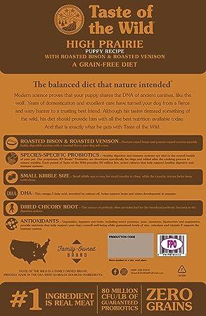 Taste of the Wild Comida para cachorros sin grano - comida seca: Amazon.es: Productos para mascotas