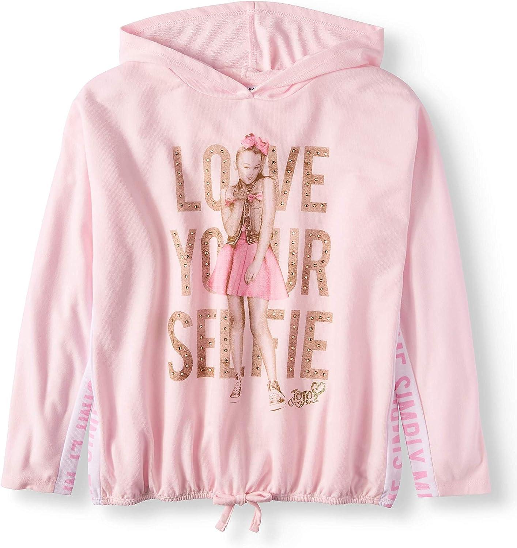 5 JoJo Siwa Girls Hoodie Shirt Selfie Shirt Pink Long Sleeve