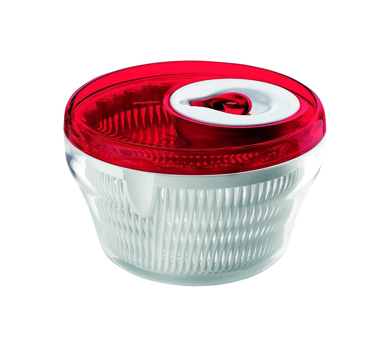 Guzzini Latina 8-1/2-Inch D Salad Spinner, Red 16900065