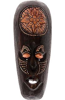 30cm Madera Maske Mascara Careta caratula Esculture Figura Africa Art decoracion HM3000019