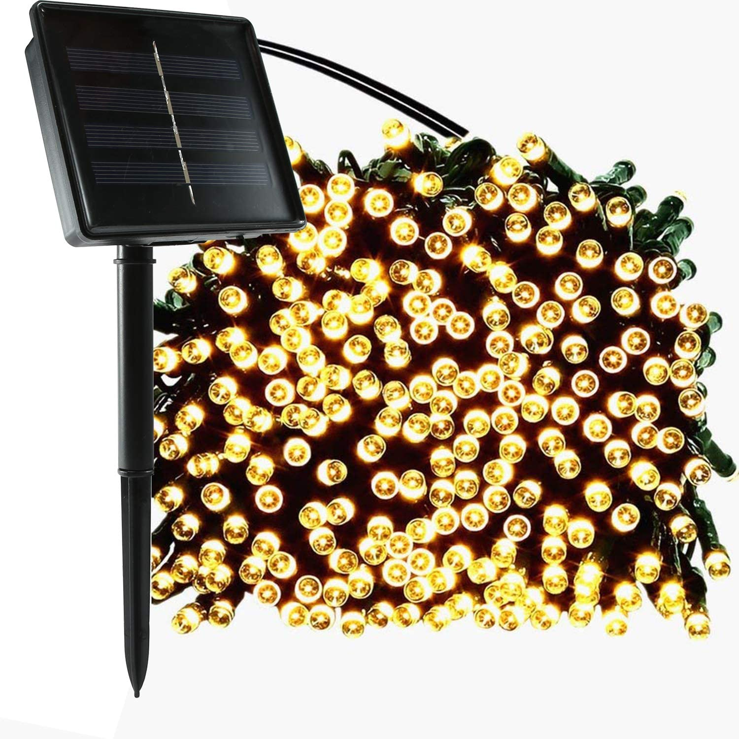 jar-owl Solar String Lights Outdoor Waterproof 72FT 200 LED 8 Modes for Home/Garden/Patio Wedding/Christmas Party (Warm White)