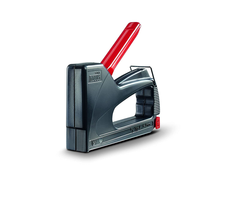 Novus Handtacker J-01, Hobby-Tacker aus ABS-Kunststoff, Griffverriegelung, Ideal fü r den Einsatz im Garten oder Haushalt Schneider Novus 030-0417
