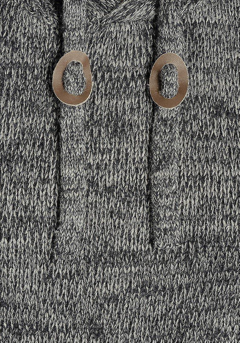 !Solid Pluto Maglione in Maglia Grossa con Cappuccio Pullover Maglieria da Uomo in Cotone 100/%