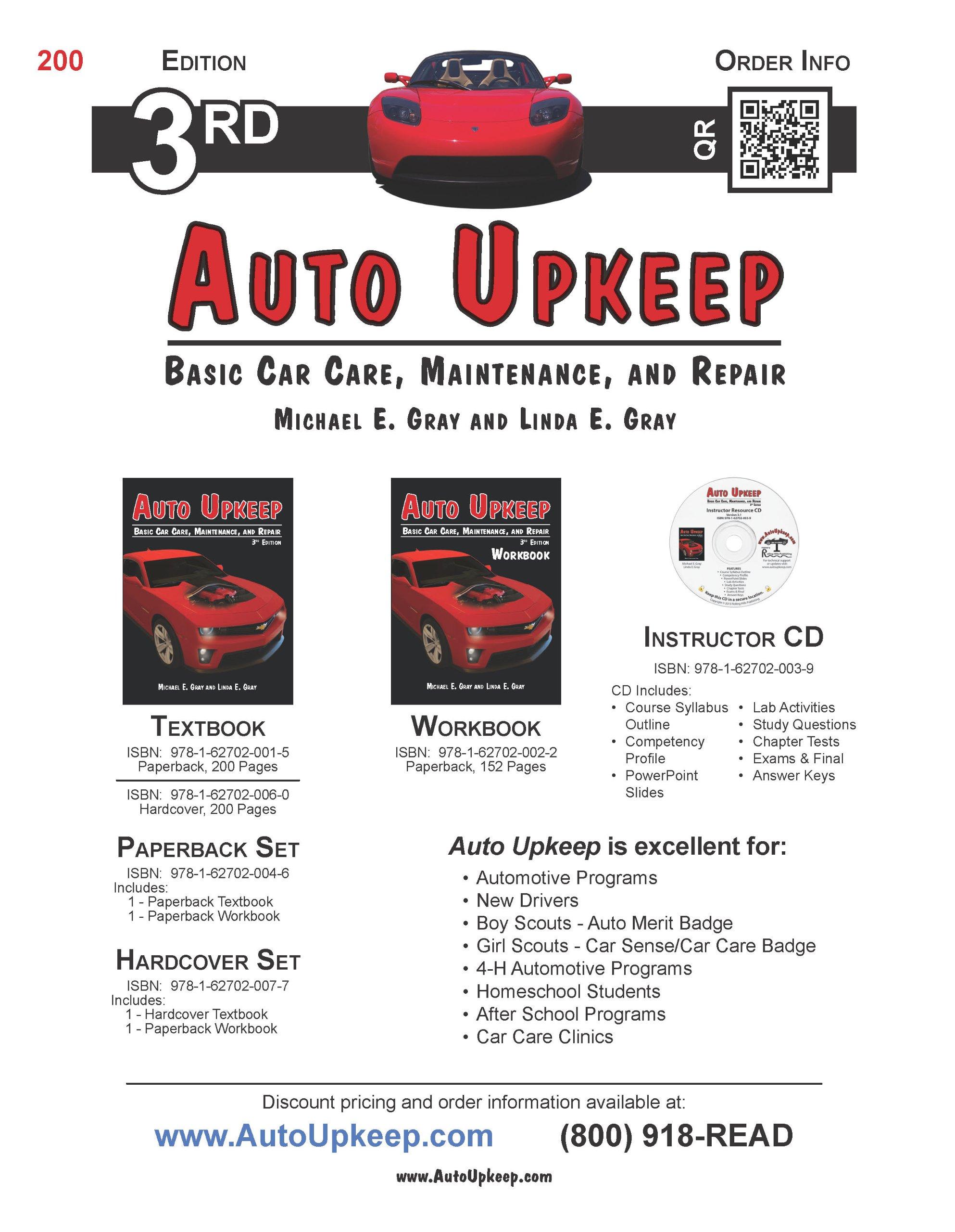 Auto Upkeep: Basic Car Care, Maintenance, and Repair: Michael E ...
