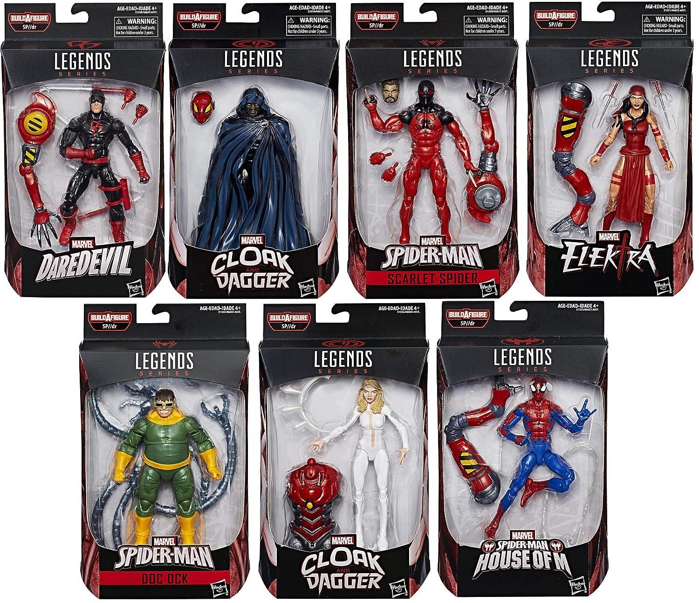 ハズブロ マーベルレジェンド スパイダーマン SP//dr シリーズ 6インチ フィギュア 7体セット Hasbro MARVEL LEGENDS SPIDER-MAN SP//dr SERIES B07DPTWSPG
