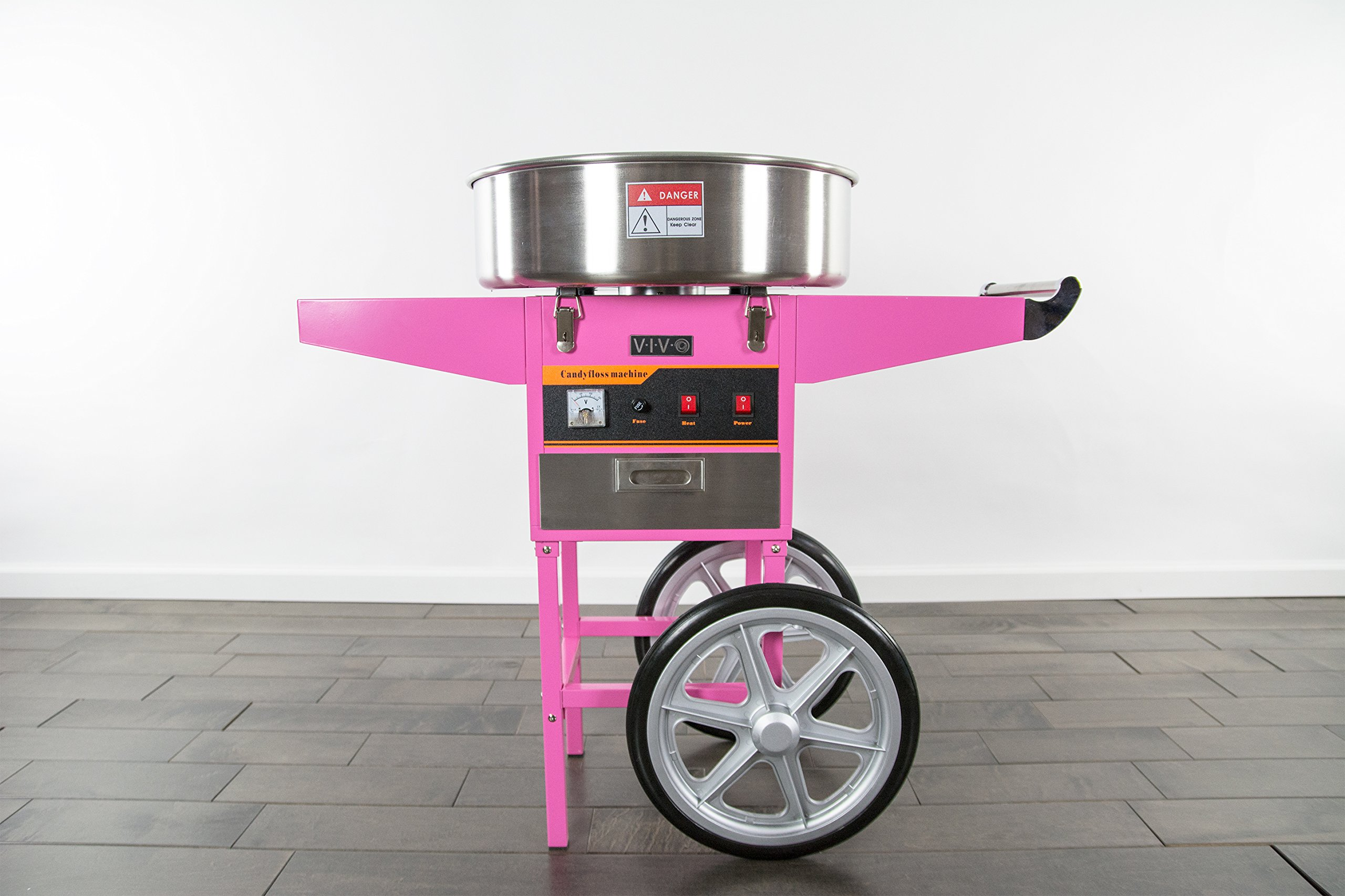 Electric Commercial Cotton Candy Machine / Candy Floss Maker Pink Cart Stand VIVO (CANDY-V002) by VIVO (Image #6)